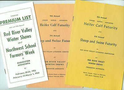 Red River Valley - Premium List Feb 1956-57 & Futurity Lists 1955-56 Crookston