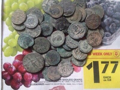 Larger uncleaned DESERT Roman coins, unsorted also, Each Bid is PER COIN BUYING