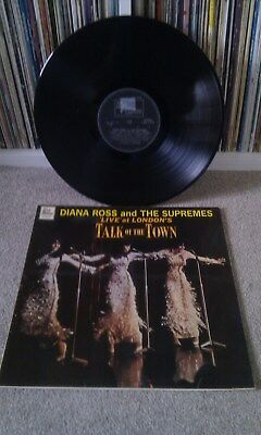 DIANA ROSS AND THE SUPREMES Live At Londons Talk Of The Town LP Soul Funk Motown