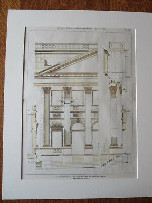Appellate Division, Court House, New York, NY, 1900, Original Plan, Hand Colored