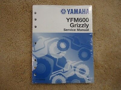 Yamaha Yfm600 Grizzly 600 Service Manual All Models & All Years 1998-2001 New!!