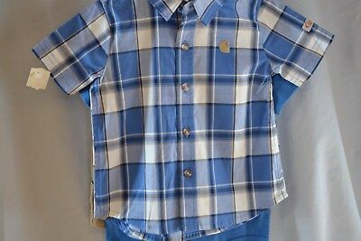 Carhartt 3pc Boys Outfit CG8662 Short Set w/ 2 Shirts Babies/Infants 6-18mos NWT