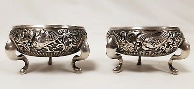 Fine Antique Silver Salts Chinese Southeast  Asian Indian