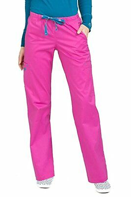 Med Couture Womens Signature Cargo Gigi Scrub Pant, NWT, Pink, Large