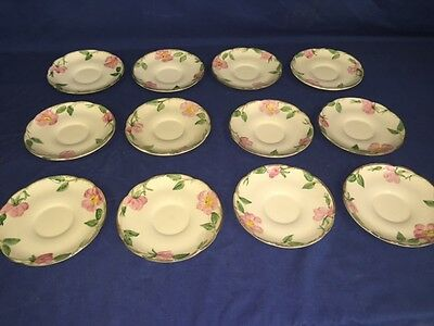 "12 USA Franciscan Desert Rose 5 1/2"" Saucers ~ Excellent"