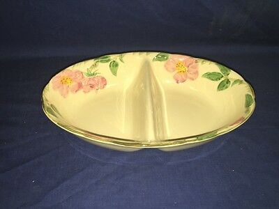 "USA Vintage Franciscan Desert Rose 10 3/4"" Divided Serving Dish - Excellent"