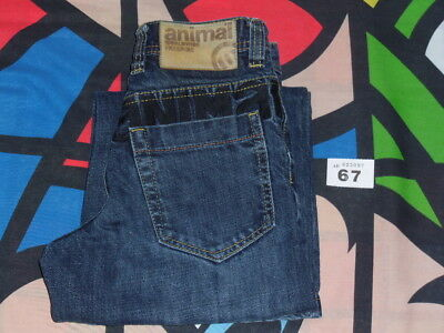 "Animal Blue Jeans Size Small (approx age 8 years, 24"" waist, 23"" leg)"