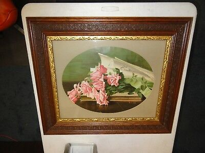 Antique Victorian  Frame With Fancy Designs And Gold Liner 23 By 27 Inches