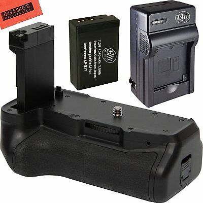Replacement Battery Grip for Canon EOS 77D Camera + 1 LP-E17 Battery + Charger