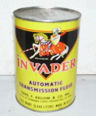 INVADER quart metal empty can Very nice