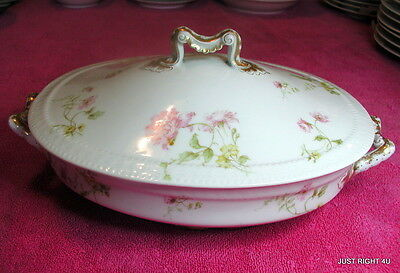 Haviland H&Co (Schleiger 221F) COVERED SERVING BOWL(s)  Exc (2 avail) Limoges