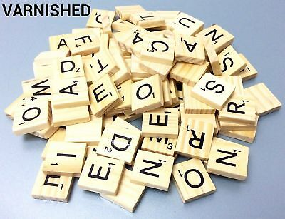 Light Color Wooden Scrabble Tiles Black Letters Scrabbles Crafts Wood Alphabets