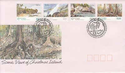 Chirstmas island:1993 Scenic Views set of 4 First day Cover.Scarce & Going cheap