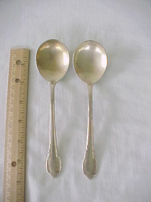 2 Round Soup Spoons 1847 Rogers Bros Silver Plate Remembrance
