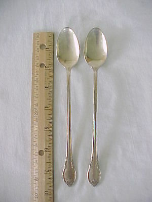 2 Ice Tea Spoons 1847 Rogers Bros Silver Plate Remembrance