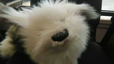"Old English sheepdog plush 24"" puppet by folktails"