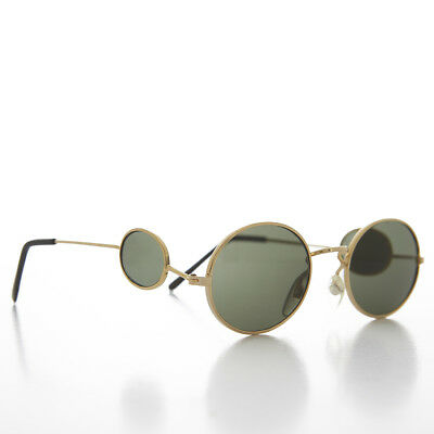 Gold Oval Side Lens Vintage Sunglass  - Willow