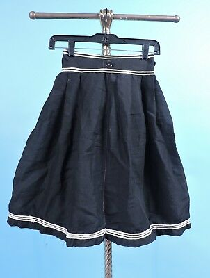 Antique Victorian 19Th C Black Skirted Bloomers / Bathing Suit Bottom For Dress