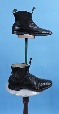 Victorian 19Th C Men'S Leather Shoes W Stretch Sides