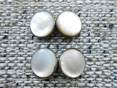 Nice, Vintage Mother of Pearl Tuxedo Cuff Link Studs