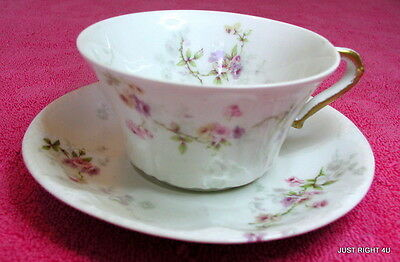 Theo Haviland (Schleiger 339-4) CUP & SAUCER SET(s) Blank 118A (4 avail)
