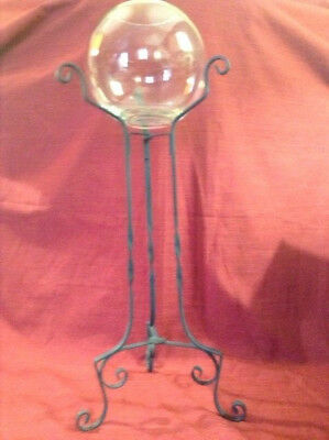 Antique Wrought Iron Fishbowl Stand