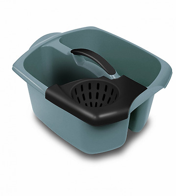 Double Compartment Mop Bucket and Wringer Graphite Grey