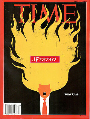 Time Magazine January 2018 Trump Year One, Brand New/Sealed Newsstand Edition