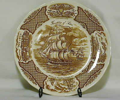 """Alfred Meakin Fair Winds Tall Ship Dinner Plate 10 1/2"""" Staffordshire England"""