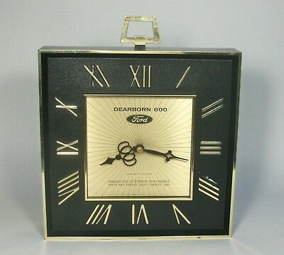 w Vtg WESTCLOX 1965 FORD DEALER Dearborn 600 CLOCK Sales Service Contest Award