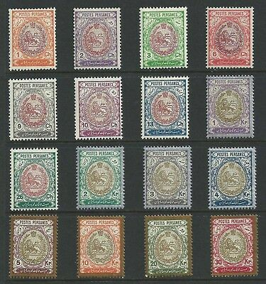 Persia 1909 Scott# 448-463 Coat of Arms Complete Set MNH