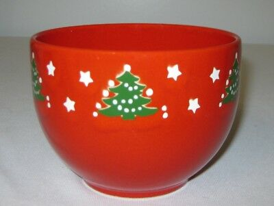 "Vintage Waechtersbach Pottery Red Christmas Tree 5"" Nut or Lg. Soup Bowl - Lot 1"