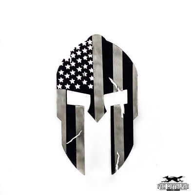 Powder Coated Steel Spartan Trailer Hitch Cover / Insert (Subdued American Flag)