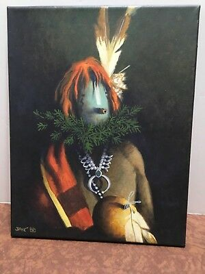 """YEI PORTRAIT"" by AL BAHE NAVAJO ORIGINAL PAINTING "" 11"" x 14"""