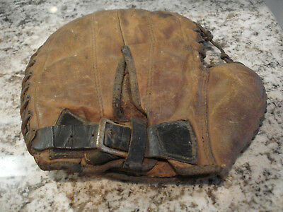 Antique/Vtg Leather Catcher's Mitt, Circa late 1800's-early 1900's
