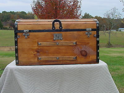 Antique Trunk   Great Restoration    Circa 1860's.  As Much As 158 Years Old!