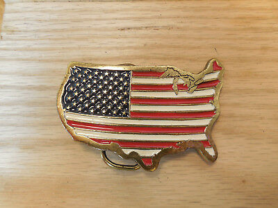 Great American Buckle Co United States Belt Buckle #1806 Made in USA 1986 2