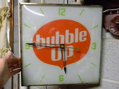 "*vintage Very Nice Pam  ""bubble Up"" Soda / Cola  Advertising Clock  Sign*"