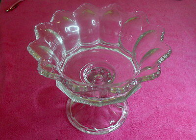 """Heisey (Colonial - Clear) 7 7/8"""" x 9 1/4"""" COMPOTE  Stem #300"""