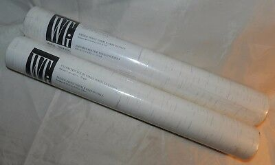 2 Rolls of Beige Wallpaper - Prepasted Solid Vinyl Wall Trends International