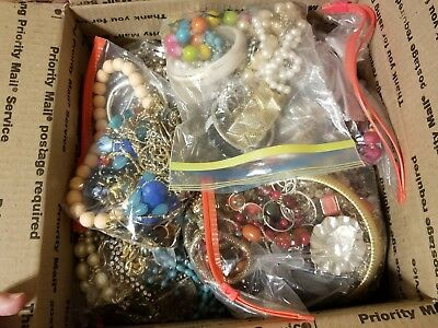 Huge Lot of Vintage Modern Costume Jewelry Wearable Some Signed 17 lbs Not Junk