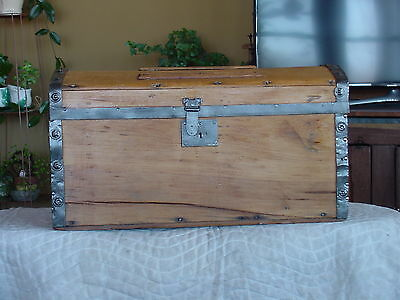 Antique Trunk w/a 1869 Pat'd Date As Much As 149 Years Old Restored