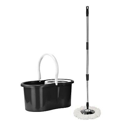 Mop Bucket Rotary Head Microfiber Double Dry 360 Drive Household Degree Black