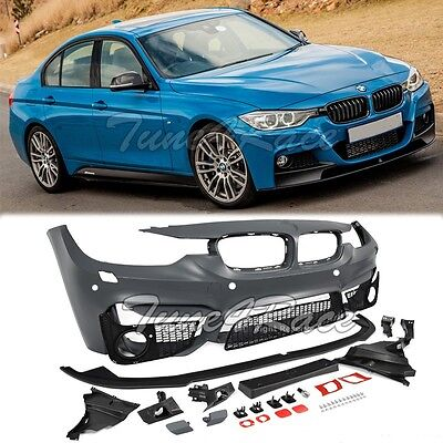 For 12 Up Bmw F30 3 Series M3 Style Front Bumper Cover W Aero Lower