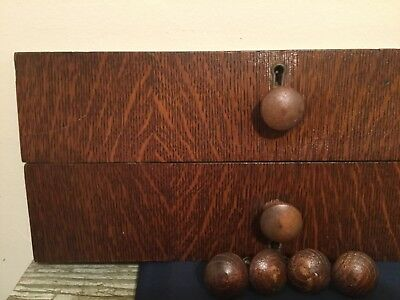 Vtg lot Wood Drawer Pulls Knobs Handles Brass National Lock Key Door Dresser