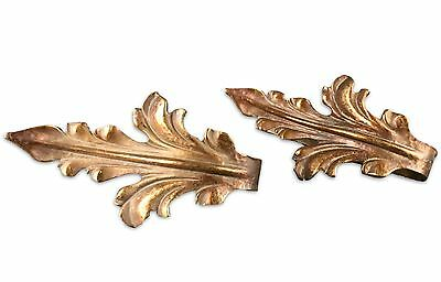 Vintage Fleur De Lis French Style Bronze Large Curtain Tie Backs
