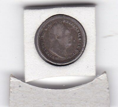 1836  King  William  IV  One and a Half Pence  (1.5d)  Silver (92.5%) Coin