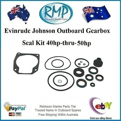 A Brand New Gearbox Seal Kit Johnson Evinrude 40hp-thru-50hp 1989-2005 # 433550
