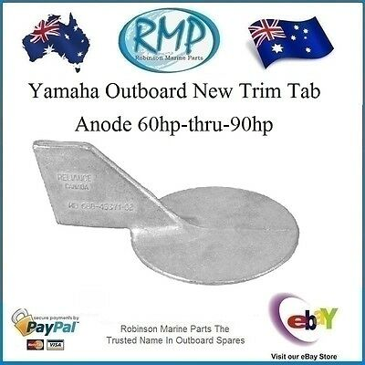 A Brand New Yamaha Outboard New Trim Tab Anode 60hp-thru-90hp # CDZ9-42