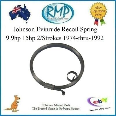A Brand New Evinrude Johnson 9.9hp-15hp 2/stroke Recoil Spring # 318944